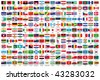 216 Official flags of the world in alphabetical order, with official Country and Capital name, verified by teachers for accuracy. - stock photo