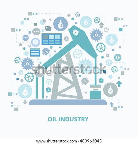 Oil industry concept design on clean background,vector - stock vector