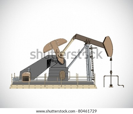 Oil pump - stock vector