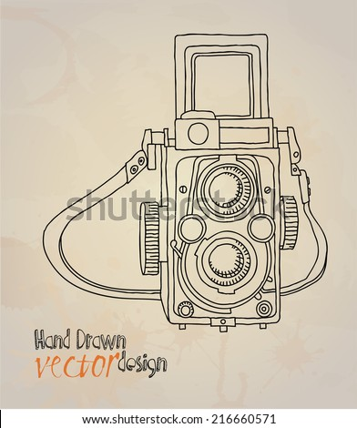 old camera  - stock vector