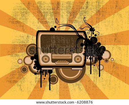 old fashion vintage radio vector illustration