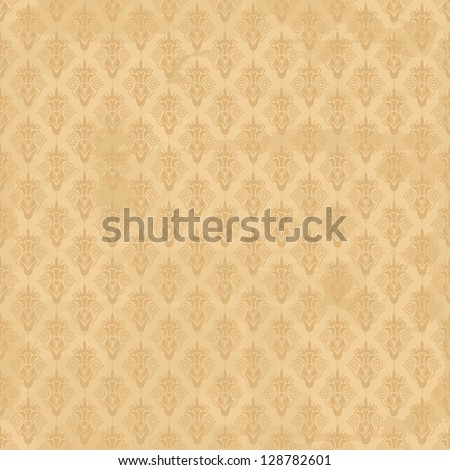 old seamless damask wallpaper - stock vector