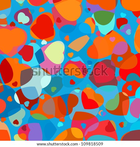 ?olorful heart vector pattern. And also includes EPS 8 vector