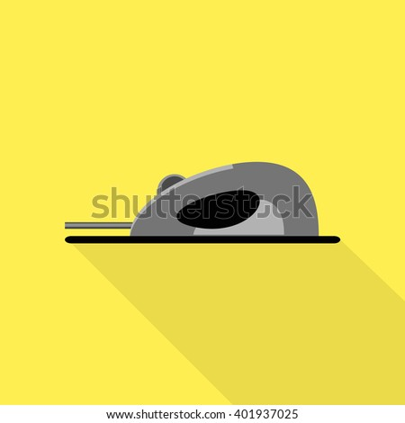 ?omputer mouse sign icon solid - stock vector