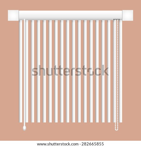 open the vertical blinds