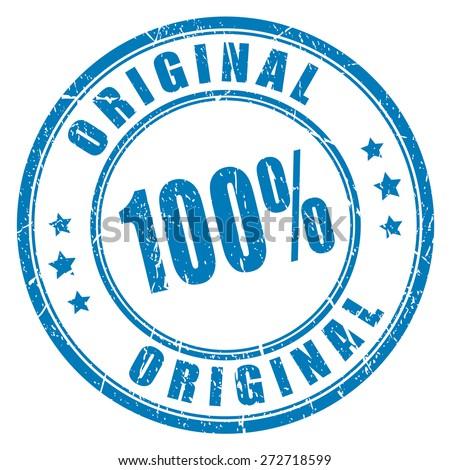 100 original vector stamp - stock vector