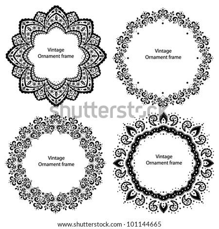 4 Ornament frames - stock vector