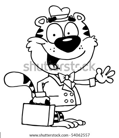 Outlined Friendly Business Tiger