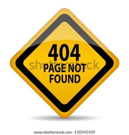 404 page not found vector sign - stock vector