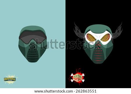 paintball  Mortal mask. - stock vector