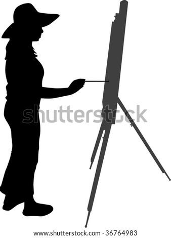 painter - stock vector
