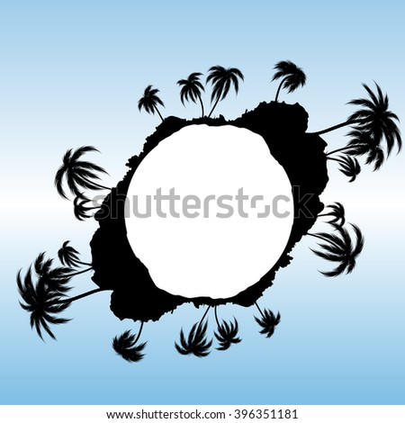 palm tree vector background - stock vector