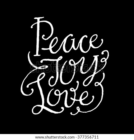 Peace Love Joy Quotes Delectable Love Joy Peace Stock Images Royaltyfree Images & Vectors