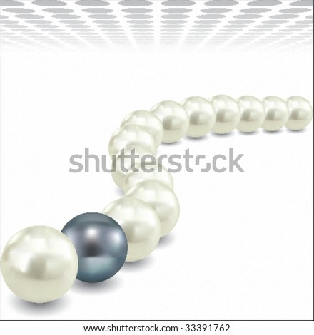 pearls - stock vector