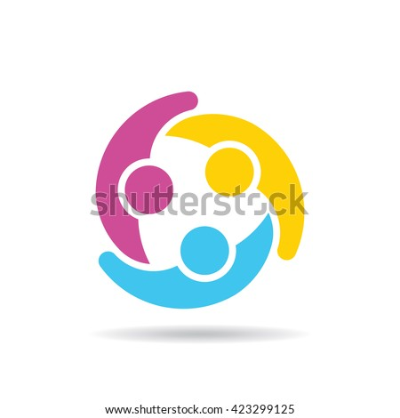 People Group Connectivity Logo. Vector graphic design illustration