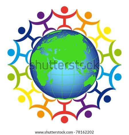 people on the earth - stock vector