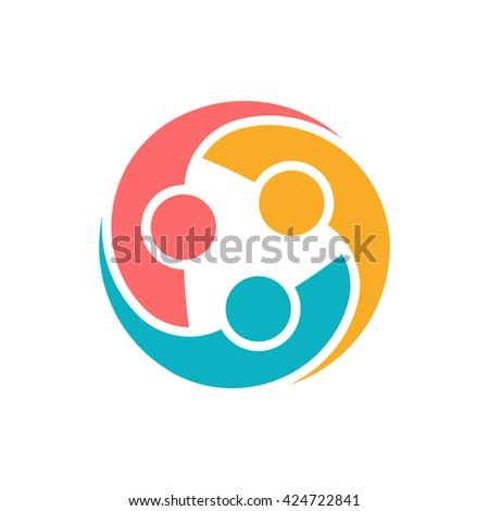 People Protection Group Logo. Vector graphic design illustration