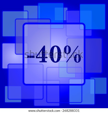 40 percent discount icon. Internet button on abstract background.  - stock vector
