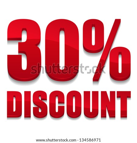30 percent discount text
