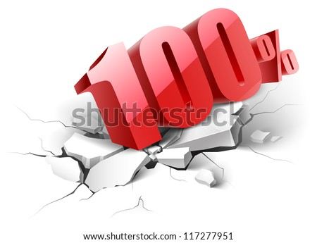 10 percent  icon on white background - stock vector