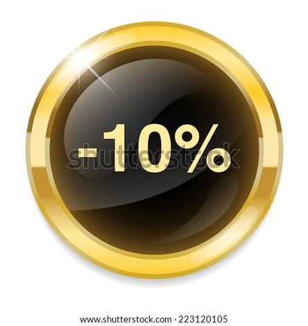 10 percent off - stock vector