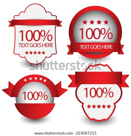 100 percent satisfaction guarantee labels. vector - stock vector
