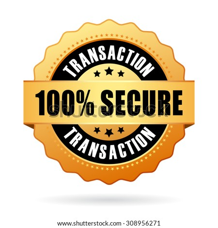 100 percent secure transaction icon