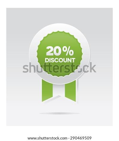 20 percents vector discount badge  - stock vector
