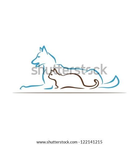 pet care - stock vector