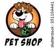 Pet shop dog Logo