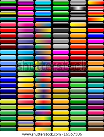 (144 pieces). Great web button collection - stock vector