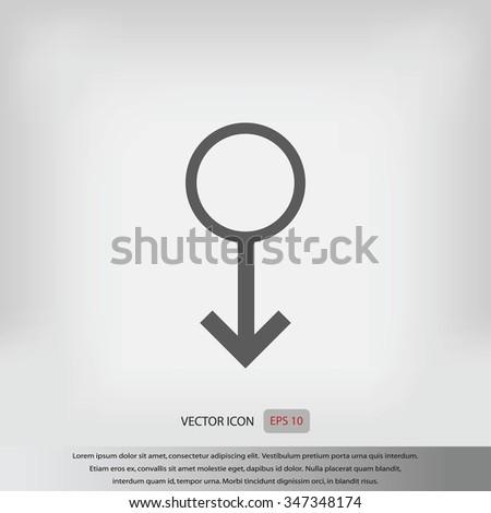 Planet Symbol Icon Stock Vector 347348174 Shutterstock