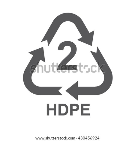 Plastic Recycling Code Hdpe 2 Gray Stock Vector 430456924 Shutterstock