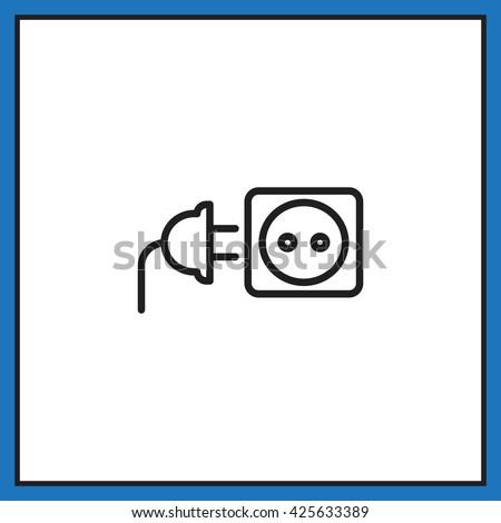 plug socket icon Vector.  - stock vector