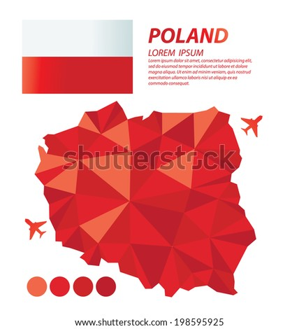 Poland geometric concept design - stock vector