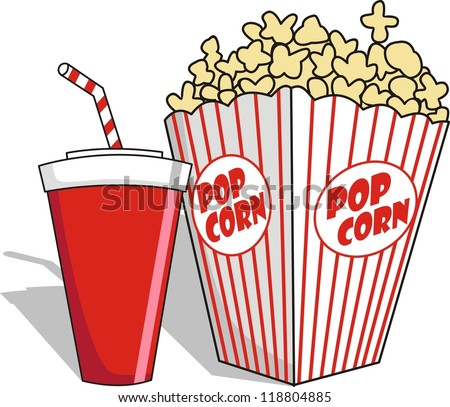 pop corn in vector style