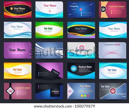 20 Premium Business Card Design Vector Set - 05 - stock vector