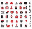 36 premium business logo icons - stock vector