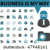 36 pro business signs. vector - stock vector