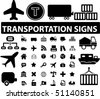 36 professional transportation signs. vector - stock vector