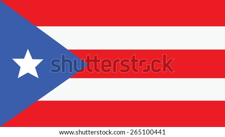 PUERTO RICO Flag for Independence Day and infographic Vector illustration. - stock vector
