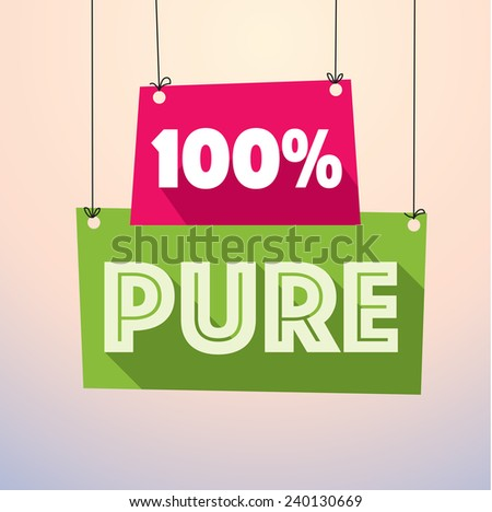 100% pure label vector drop down tag- eps10 - stock vector