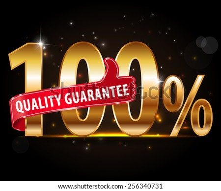 100% quality Guarantee typography, sticker, tag, label, sign, icon.-eps10 vector - stock vector