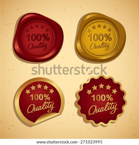 100% Quality Icon : Vector Illustration - stock vector