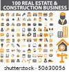 100 real estate & construction business signs. vector - stock vector