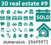 30 real estate icons. vector - stock vector