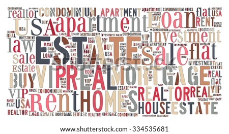 Real Estate Keywords Tag Cloud    - vector illustration