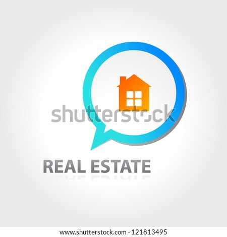 real estate sign - vector eps 10 - stock vector