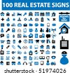 100 real estate signs. vector - stock vector