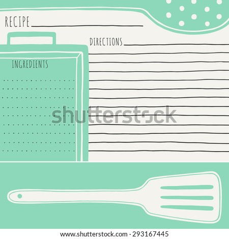 Recipe Template Stock Images, Royalty-Free Images & Vectors ...